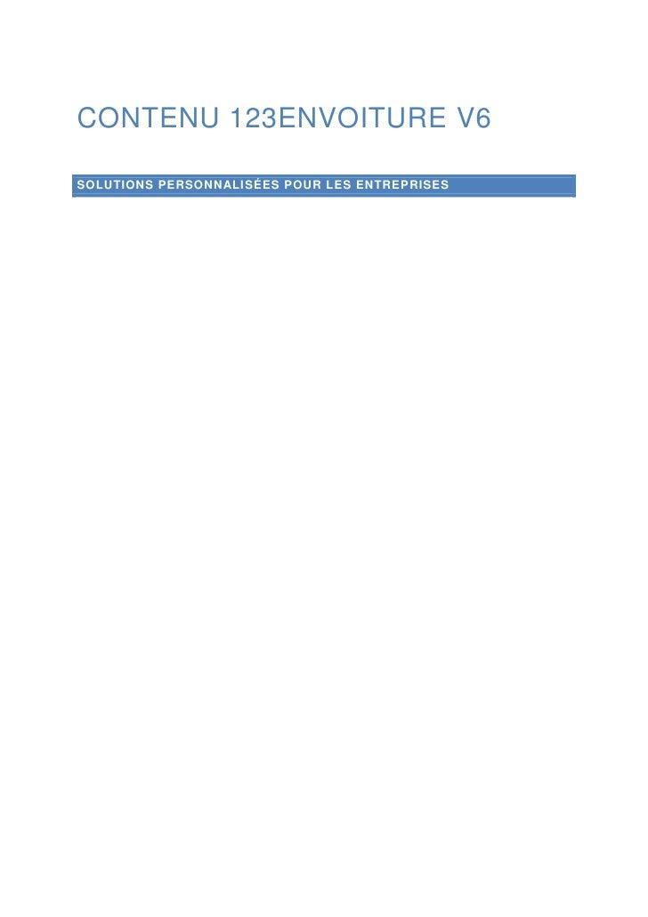 Contenu 123envoiture V6<br />Solutions personnalisées pour les entreprises<br />