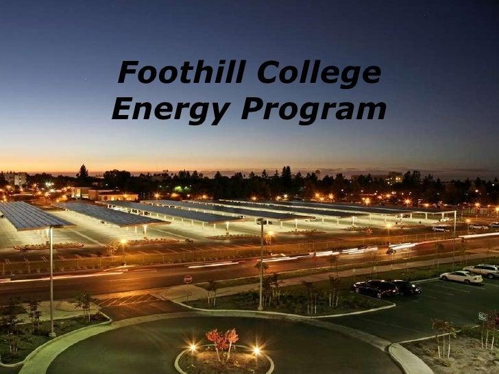 Foothill College Energy Program
