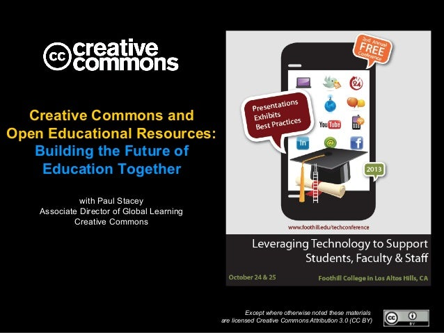 Creative Commons and Open Educational Resources: Building the Future of Education Together