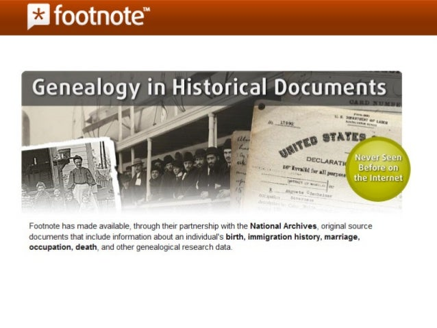 Footnote Overview