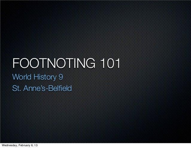 Footnoting 101 1213