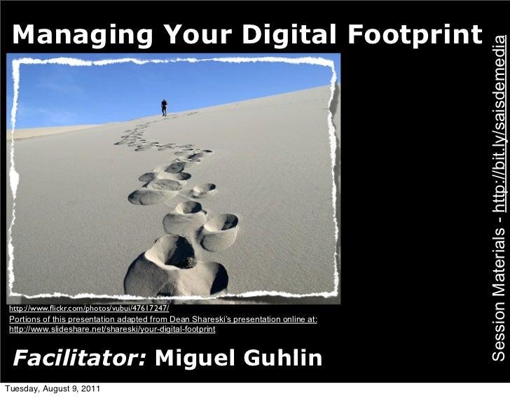 Managing Your Digital Footprint                                                                                      Sessi...