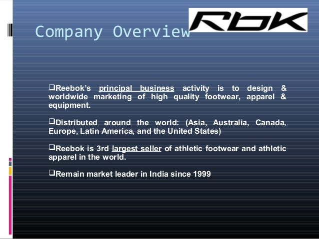 reebok value chain Sportswear industry data and company profiles nike, reebok and adidas the majority of employees within the supply chains of sportswear companies are.