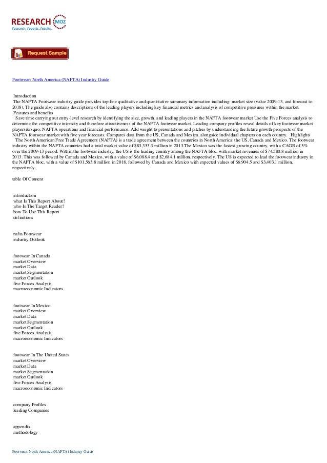 Footwear  north america (nafta) industry guide