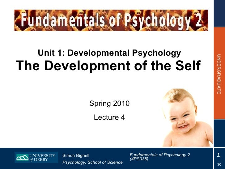 Unit 1: Developmental Psychology The Development of the Self   Spring 2010 Lecture 4