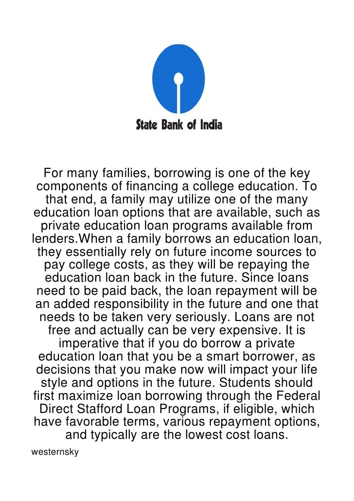 For many families, borrowing is one of the key  components of financing a college education. To    that end, a family may ...
