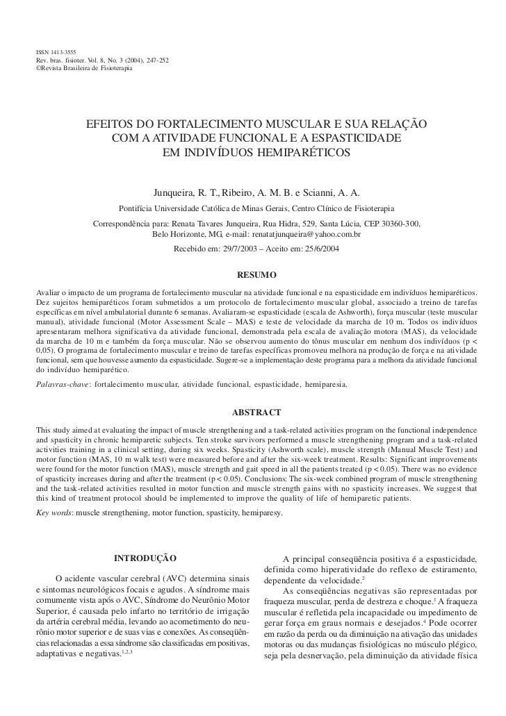 ISSN 1413-3555Vol. 8 No. 2,fisioter. Vol. 8, No. 3 (2004), 247-252 Rev. bras. 2004                                  Fortal...