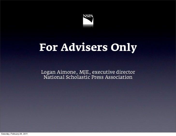 For Advisers Iowa 11
