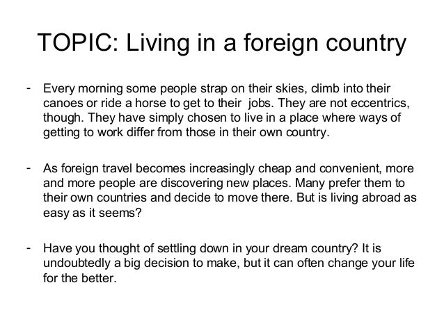 foreign country essay