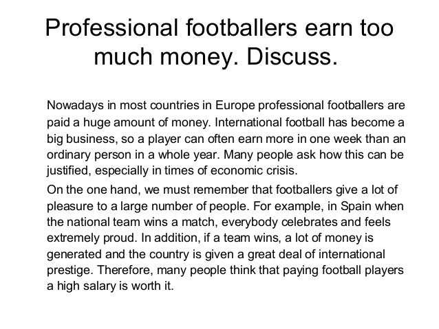 football the good 2 essay Free sample essay on a football match football is one of the most popular games in the world it is also one of the oldest games it is a game of strength and stamina.