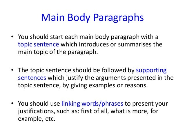 Write my how to start the first body paragraph of an essay