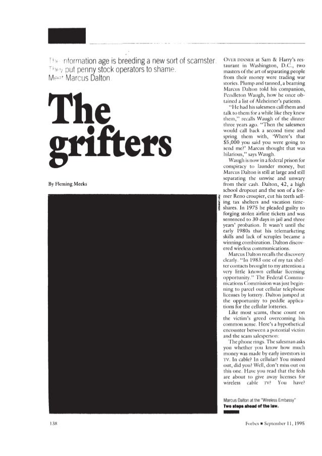 Forbes The Grifters