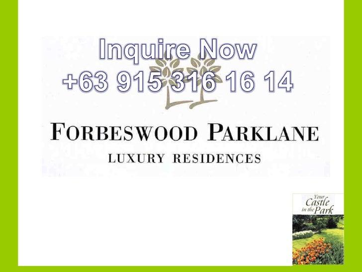 Forbeswood parklane
