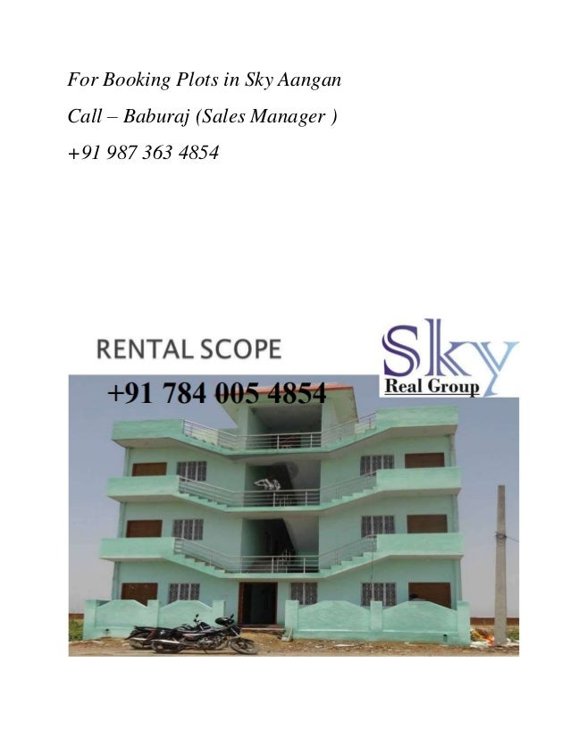 For booking plots in sky aangan