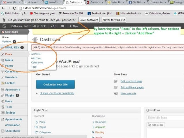 For cathy  - how to upload blog posts