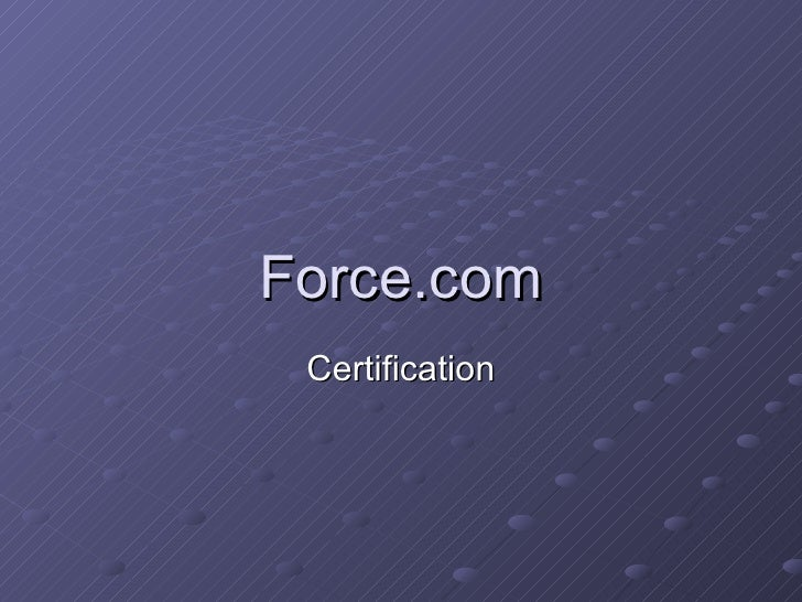 Force.com Certification
