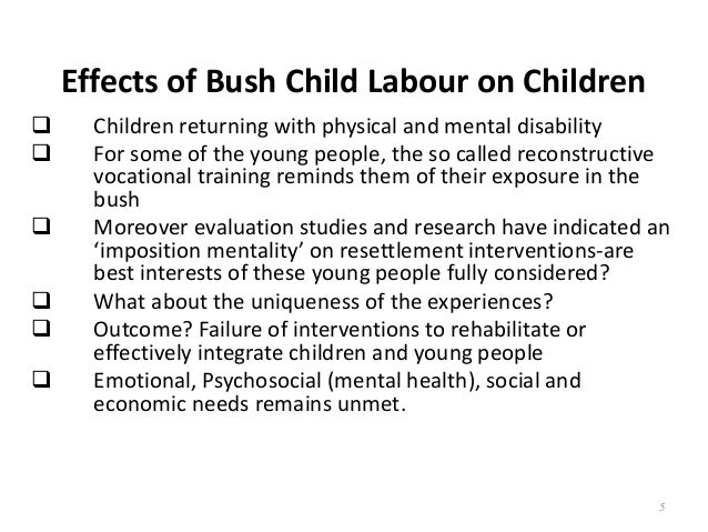 effects of child labour essays
