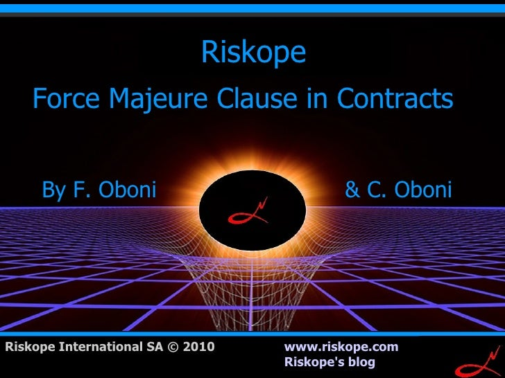 Force Majeure Clause in Contracts