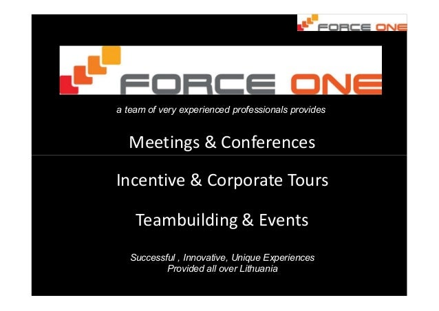 Meetings & Conferences a team of very experienced professionals provides Incentive & Corporate Tours Teambuilding & Events...