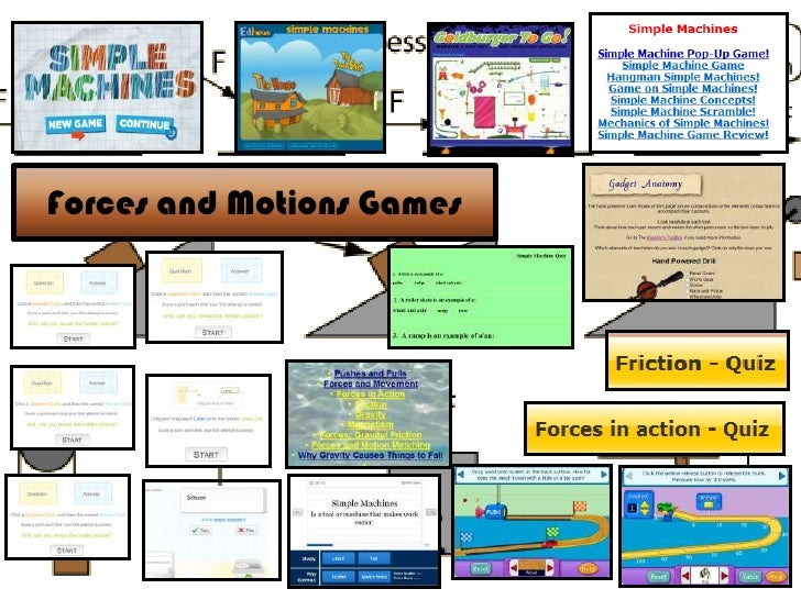 Forces and Motions Games
