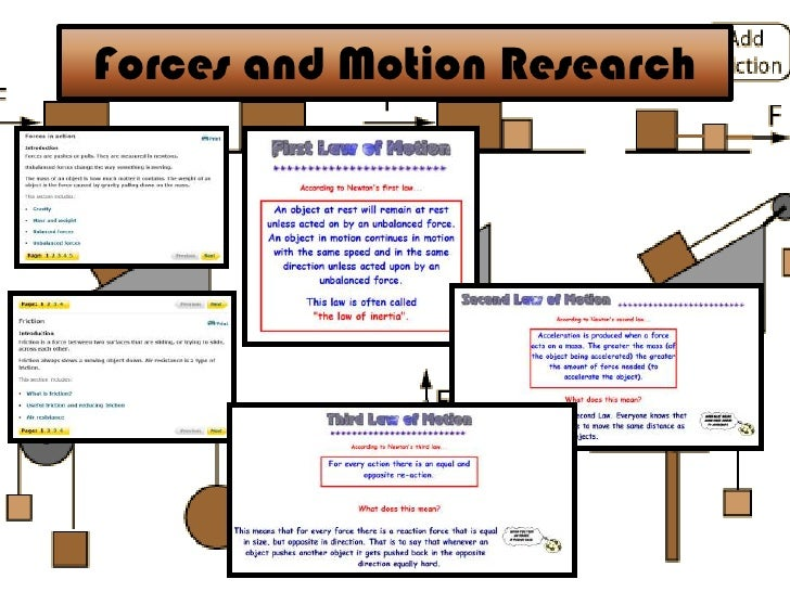 Forces and Motion Research