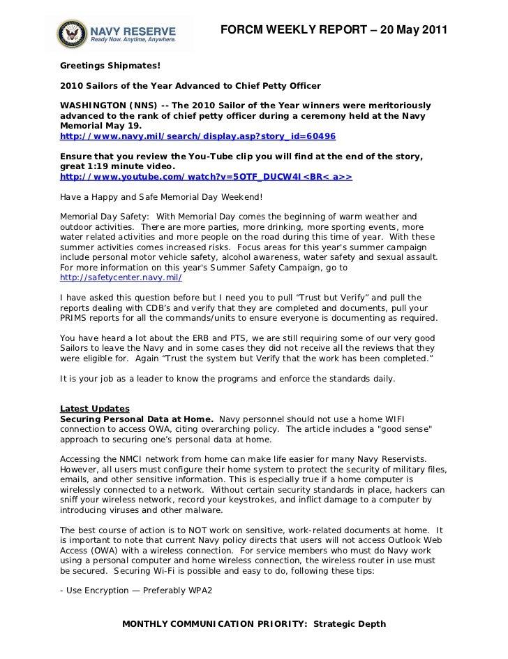 Force weekly 20 may 2011