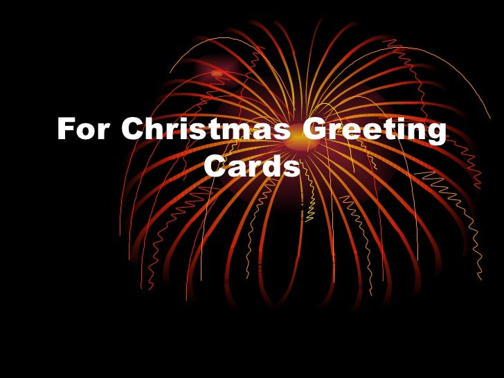 Writing Tips: Christmas Greeting Cards