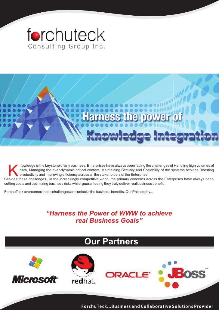 nowledge is the keystone of any business. Enterprises have always been facing the challenges of Handling high volumes of  ...