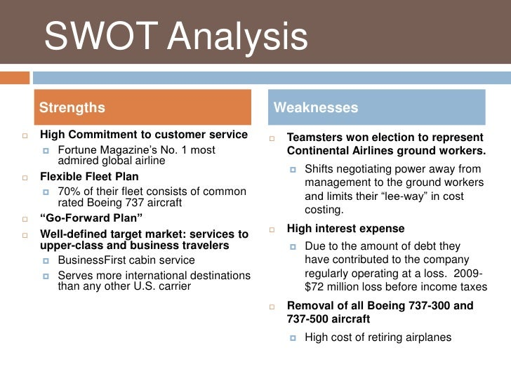 united airlines swot Company analysis – united airlines corporation lawrence, kansas wordpresscom   united's swot analysis show the company's strengths, weaknesses,.
