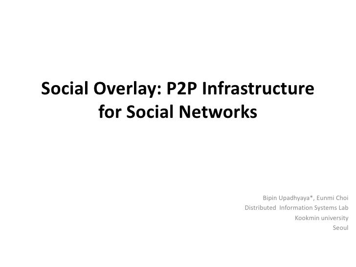 Social Overlay: P2P Infrastructure for Social Networks<br />Bipin Upadhyaya*, EunmiChoi<br />Distributed  Information Syst...