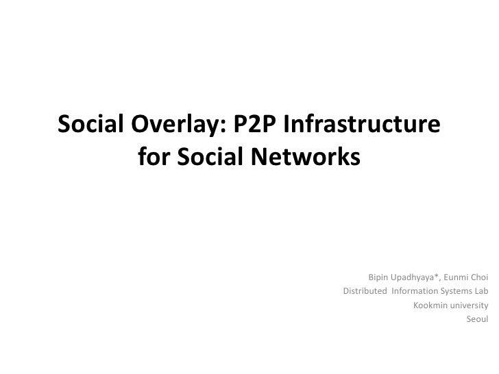 SocialOverlay : P2P Infrastructure for social Networks