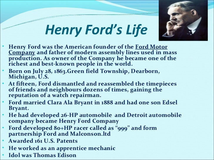 Henry Ford Amp Ford Motor Co
