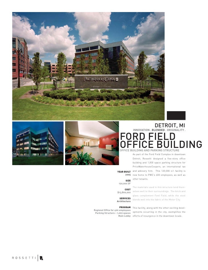 Ford Field Office And Parking Deck