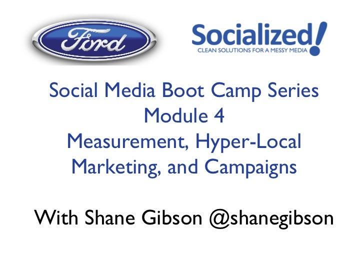 Ford Module 4 (Alberta FDA) Social Media