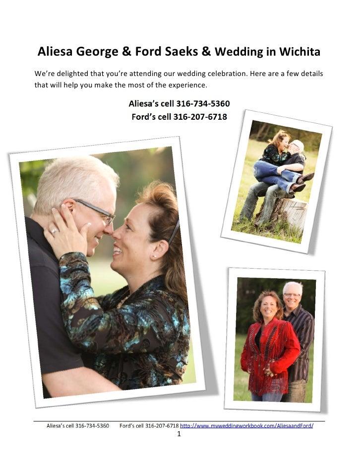 Ford Saeks & Aliesa George Wedding Info