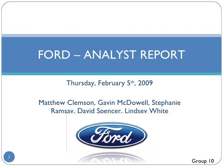 Ford Analyst