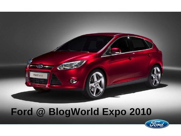 Ford @ BlogWorld Expo