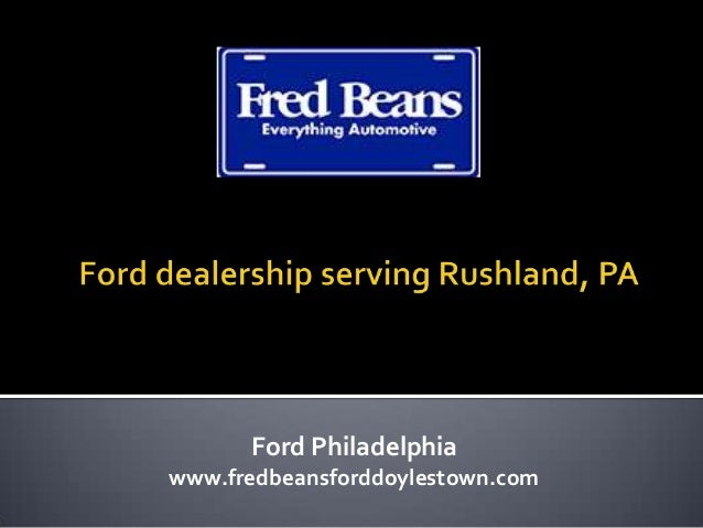 Ford dealership serving Rushland, PA