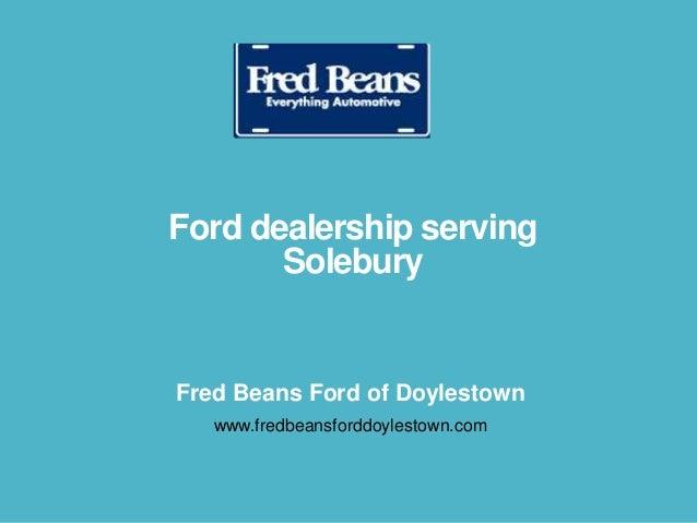 Ford dealership serving Solebury