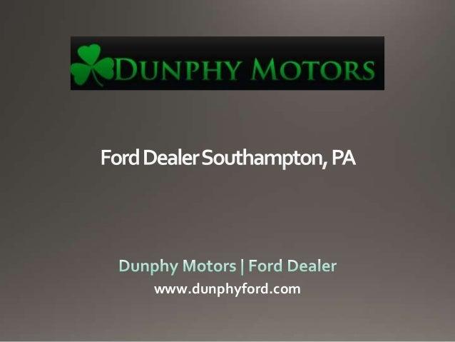 Ford Dealer Southampton, PA
