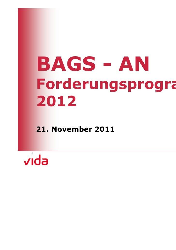 BAGS - ANForderungsprogramm201221. November 2011