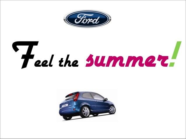 Logo Ford Feel the summer!