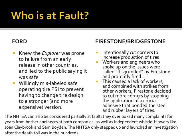 bridgestone firestone case essay Bridgestone is studied in bridgestone swot analysis, usp & competitors bridgestone has its roots from the firestone tire and rubber company of us and.