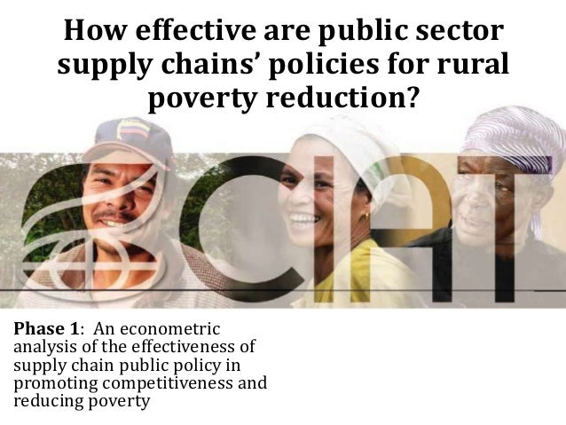 How effective are public sector     supply chains' policies for rural           poverty reduction?Phase 1: An econometrica...