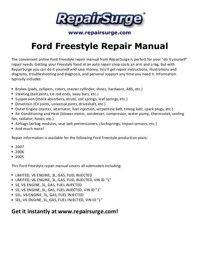 Ford Freestyle Repair Manual 2005-2007