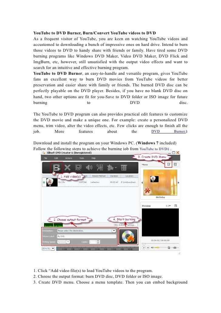 YouTube to DVD Burner, Burn/Convert YouTube videos to DVD