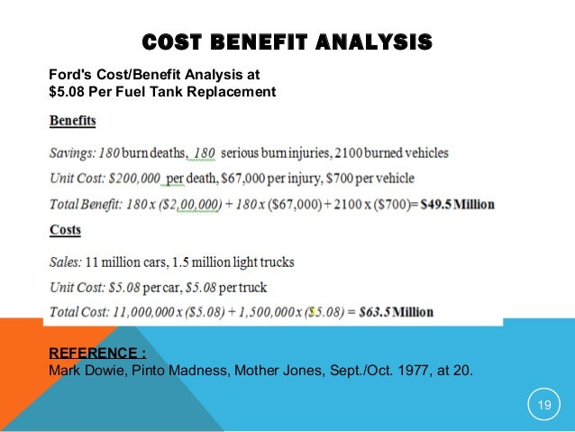 cost benefit analysis and ford Cost analysis step by step a how-to guide for planners and providers of welfare-to-work and other employment and training programs david h greenberg.