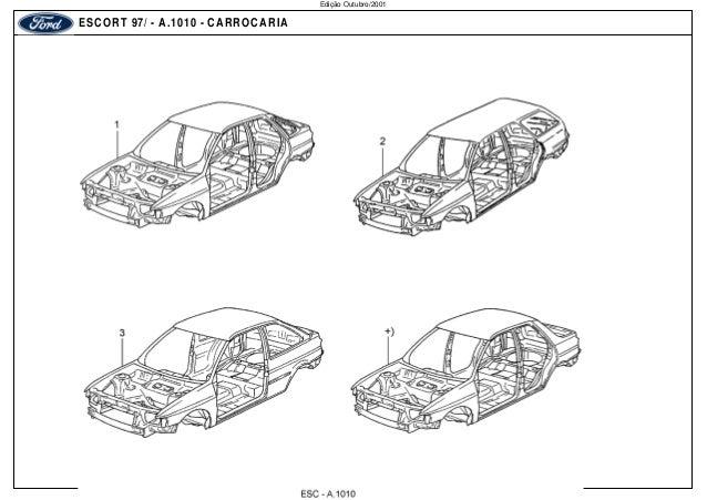ESCORT 97/ - A.1010 - CARROCARIA  Edição Outubro/2001