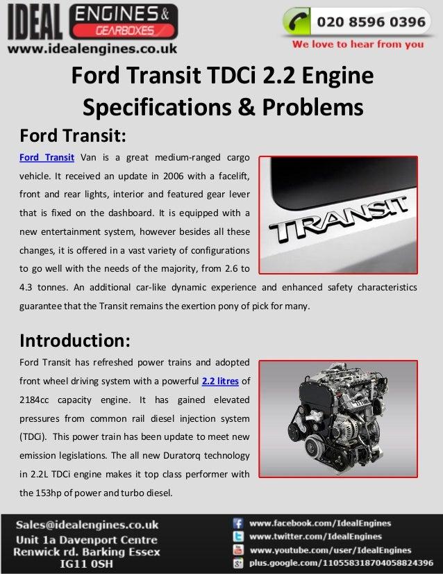 Image Result For Ford Transitsel Engine Problems