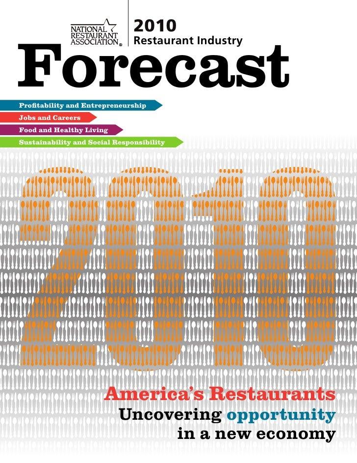 NRA (National Restaurant Assciation Forecast 2010